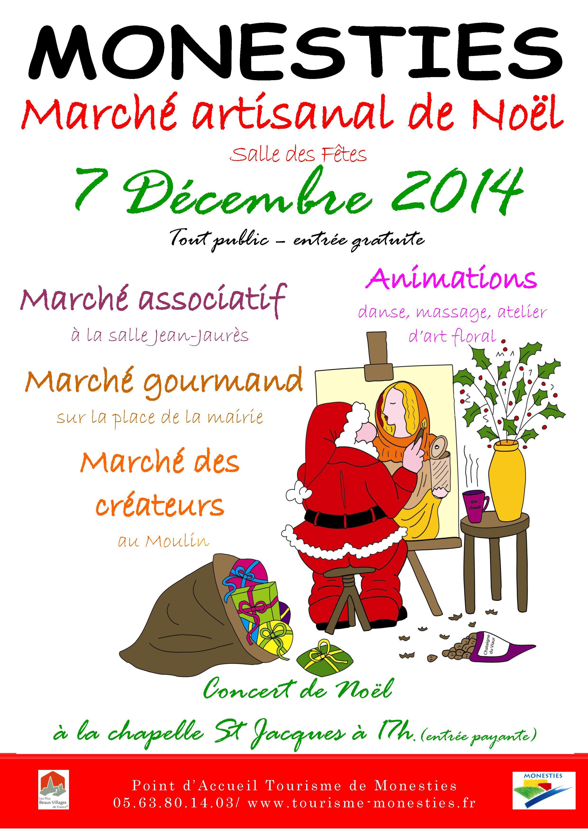 marché de Noel de Monestiés