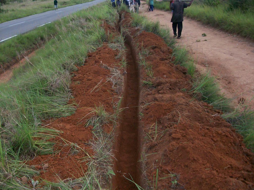 3km de tranchée creusée pendant 3 semaines
